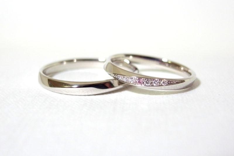 プリジュ オリジナルリング ピンクダイヤモンド 音の葉