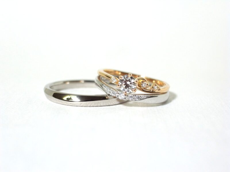 プリジュ マリッジリング 結婚指輪 ピンクゴールド プラチナ ホワイトゴールド セットリング